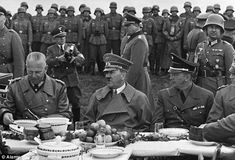 Hitler and His Officers ~     Hitler was secretive, even in the relative safety of his headquarters, that she never saw him in person — only his German shepherd Blondie and his SS guards, who chatted with the women.