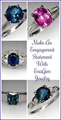Make An Engagement Statement With EraGem Jewelry. See how these sapphire engagement rings can make your engagement a special occasion. Cheap Fashion Jewelry, Trendy Jewelry, Cheap Jewelry, Jewelry Trends, Jewelry Shop, Fashion Accessories, Handmade Jewelry, Women Jewelry, Wedding Pins