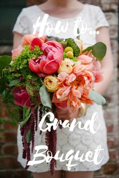 How to make a wedding bouquet! DIY Wedding Bouquet Tutorial! Peony bouquet #diybouquet #diyflowers