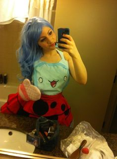 My catbug cosplay! I have it listed on etsy too :3 here:  https://www.etsy.com/listing/163444541/catbug-cosplay-aprondress?