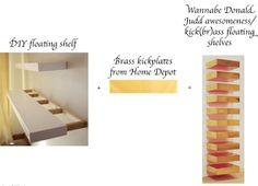 I'm Glad I Exist: Brass floating shelves DIY