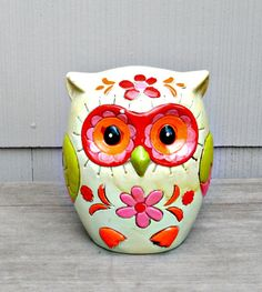 Vintage Owl Bank  1960's Paper Mache by TheVintageDresser on Etsy, $16.99