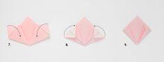 DIY fleur origami Adeline klam