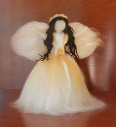 Christmas tree topper angel w/swarovski crystal  by NaturesEmbers, $68.00