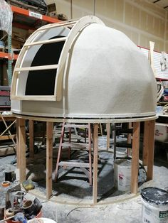 Astronomical Observatory, Make A Door, Aluminum Screen, Geodesic Dome, Exposed Wood, Stargazing, Cool Designs, Backyard, Star Party