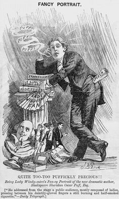 """Punch"": cartoon depicting Oscar Wilde in ""Punch"" -- Britannica Online Encyclopedia Oscar Wilde Trial, Punch Magazine, Dr Ben, English Poets, A Cartoon, A Comics, Oscars, Art Techniques, Art History"