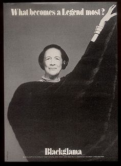 "Diana Vreeland - Blackglama Mink ""What Becomes A Legend Most"" Ad Campaign (1977)"