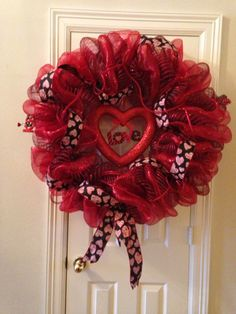 Valentine's Day Wreath created by Janine