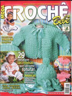 Album Archive - Moda croche bebé Nº 57 Baby Knitting Patterns, Baby Patterns, Crochet Patterns, Crochet Lace Edging, Crochet Bebe, Crochet For Kids, Knit Crochet, Knitting Books, Crochet Books