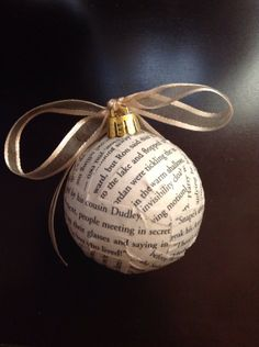 Harry Potter ornament from upcycled book by YourCraftingMeSmalls, $7.00