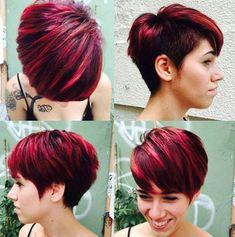 short choppy haircut with side undercut