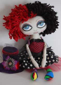 Gigi Burlesque Couture Circus Cloth Art Doll by Omayra Rosado of OCRPrimitiveArts, $55.00