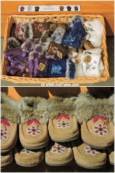 Shoes & Gloves in Fur - Souvenirs from Canada