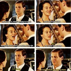Downton Abbey: One of my favorite moments and my favorite couple on the show.