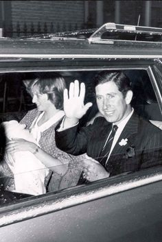 Prince Charles and Princess Diana with Prince William. One of the best photos of Charles ~ a real smile on his face!