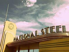 National Steel Art Deco Signage
