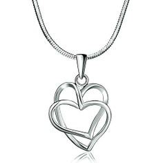 "Pugster 925 Sterling Silver Diamond Accent Double Open Heart Cross Love Pendant Necklace 18"" Pugster. $28.49. Size (mm): 14.53*4.37*22.32. Color: Silver. Metal: Silver Stone. Weight (gram): 4.9"