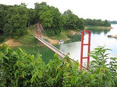 Sangu River & Hanging Bridge, Bandarban, Bangladesh. For Pinterest Campaign www.pinific.com