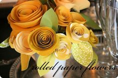 rolled paper flowers {tutorial}