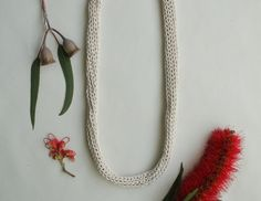 Image of Natural Cotton Knitted Necklace