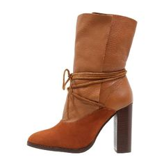 HILARY - High Heel Stiefelette - tan by Topshop