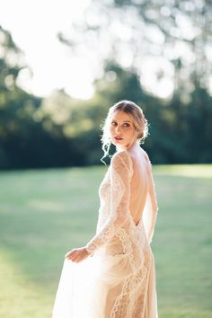 Lovely lace gown: http://www.stylemepretty.com/australia-weddings/2015/04/16/romantic-french-inspired-wedding-inspiration/ | Photography: White Images - www.whiteimages.com.au