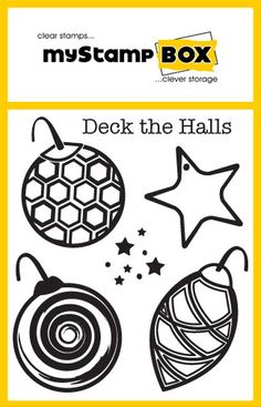 Deck the Halls stamp set from myStamp BOX clear stamps