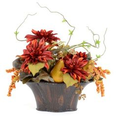 Dahlia With Pears Floral Arrangement