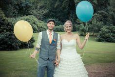 balloons, wedding photo