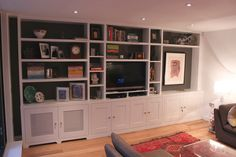 Fitted furniture for London - Fitted Wardrobes, Alcove Cupboards, Bespoke Bookcases, bookshelves and fitted bedroom furniture Lounge Design, Bookshelves Built In, Built Ins, Bookcases, Mdf Furniture, Bespoke Furniture, Tv Shelving, Alcove Storage, Ikea Units