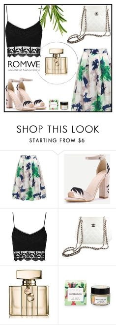 """""""Romwe 2"""" by amra-f ❤ liked on Polyvore featuring Chanel and Gucci"""