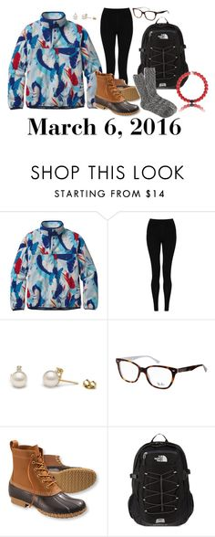 """""""March 6, 2016"""" by jennie-le on Polyvore featuring Patagonia, M&S Collection, Ray-Ban, L.L.Bean, The North Face, J.Crew, women's clothing, women, female and woman"""