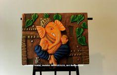 Mural Wall, Ganesha, Lord, Clay, Paintings, Interior, Crafts, Clays, Manualidades