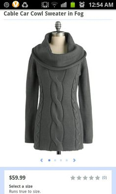 Cable Car Cowl Sweater in Fog by ModCloth