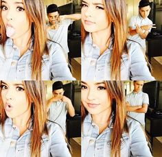 Becky and Frankie❤️ Becky G, Covergirl, Dancer, Baby Boy, Beautiful Women, Actors, Lady, Hair Styles, Coat
