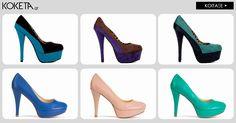 Τα ψηλά τακούνια είναι η έμπνευσή μας!  #koketa #fashion #shoes #stylish  #Highheels