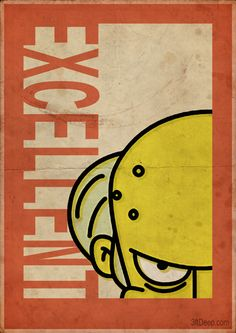 Mr Burns Simpsons - Vintage poster- 3ftdeep by 3ftDeep on deviantART