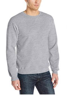 Fruit of the Loom Men's Fleece Crew Sweatshirt, Athletic Heather, Small Cotton dominant lightweight fleece with superior softness V-notch detailing at neck Contrast neck tape cover cotton/polyester pre-shrunk fleece Mens Clothing Sale, Men's Clothing, Mens Fleece, Mens Activewear, Crew Sweatshirts, Men Sweater, Athletic, Mens Fashion, Mens Tops