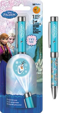 The Disney Frozen Olaf Snowman Projector Pen! Great for any Frozen Fan. Just press the button to project Olaf on the wall or any flat sur...