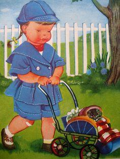 Eloise Wilkin - kitten in the pram