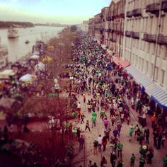 The pre-St. Patrick's Day party is in full swing on Historic River Street! #Savannah