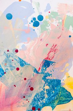 Magic card #1. Acrylic, pastel on paper, 14x20 cm. Acrylic painting.