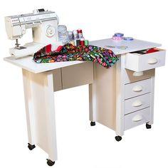 Mobile Desk & Craft Table  white - Venture Horizon 1017-11WH
