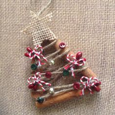 Christmas trees set of 3 made of  Cinnamon sticks by CraftsbyBeba
