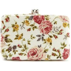 Foiled Floral Box Wallet ($11) ❤ liked on Polyvore