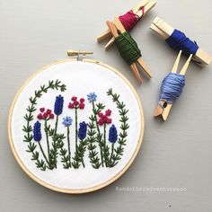 My latest embroidery pattern, Wild Garden, is now listed in the shop.