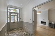 Victorian Hall Opening Into Living Room