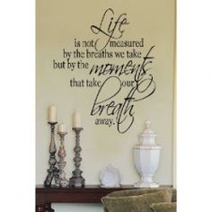 Inspirational quotes as wall quotes add a personal touch to your home.The Vinyl wall quotes are fashionable home decor that are also inspirational.    The...