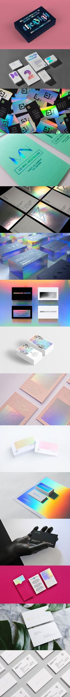 Jul 2019 - So in this post I've gathered 25 Gorgeous Holographic Business Card Designs that will leave a lasting impression. Business Card Design, Business Cards, Freelance Graphic Design, Corporate Identity, Holographic, Design Inspiration, Design Ideas, Packaging Design, Branding