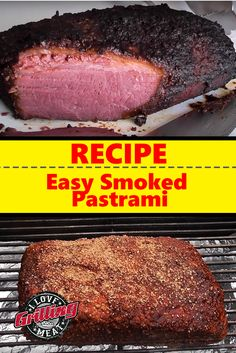 This easy smoked pastrami recipe will get you meat that is way better than what you can buy at any deli counter Traeger Recipes, Smoked Meat Recipes, Smoked Beef, Rib Recipes, Oven Recipes, Smoked Corned Beef Brisket, Easy Recipes, Chuck Roast Recipes, Venison Recipes